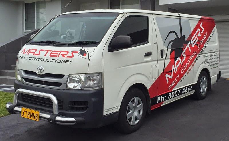 Masters Pest Control Sydney Van