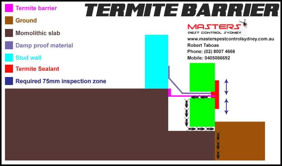 Masters Pest Control Sydney Termite barrier