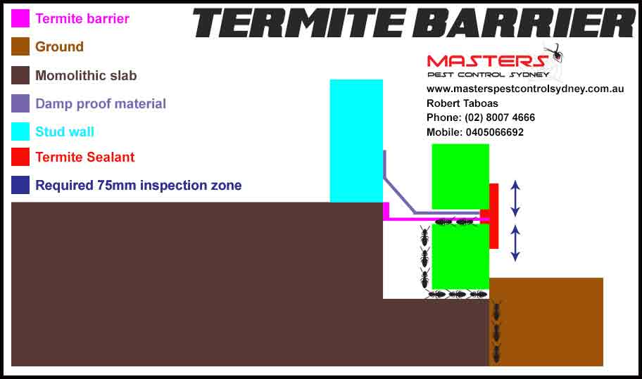 Termite Barrier Methods Installation Masters Pest Control Sydney