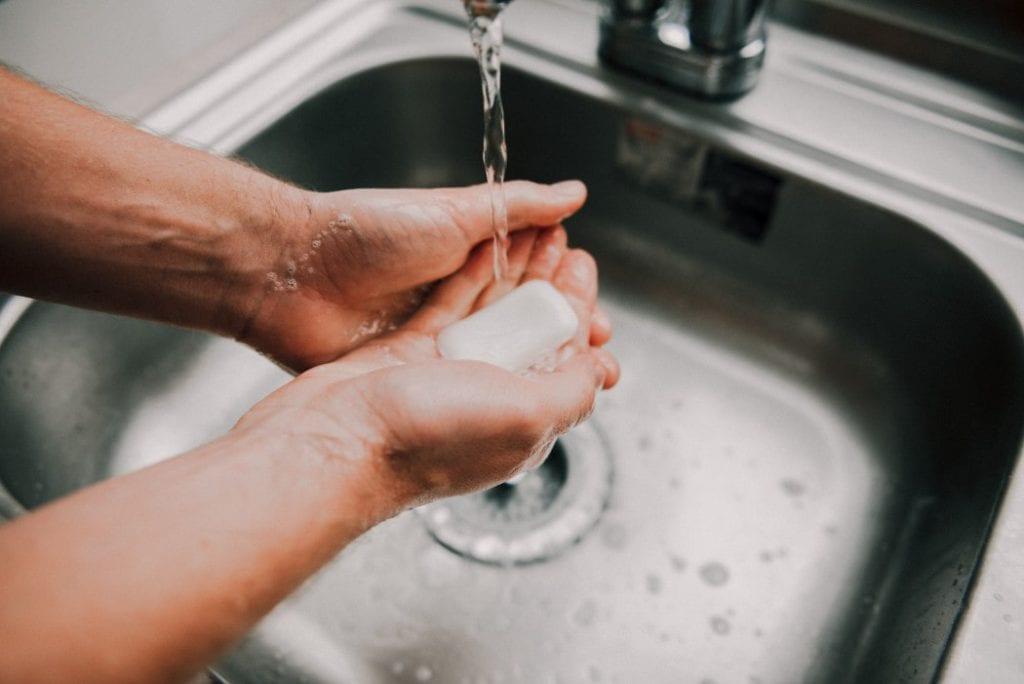 regular hand washing to prevent coronavirus infection